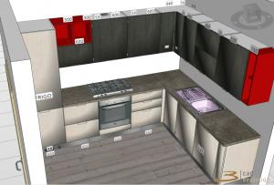 Esempio di render cucina 3d