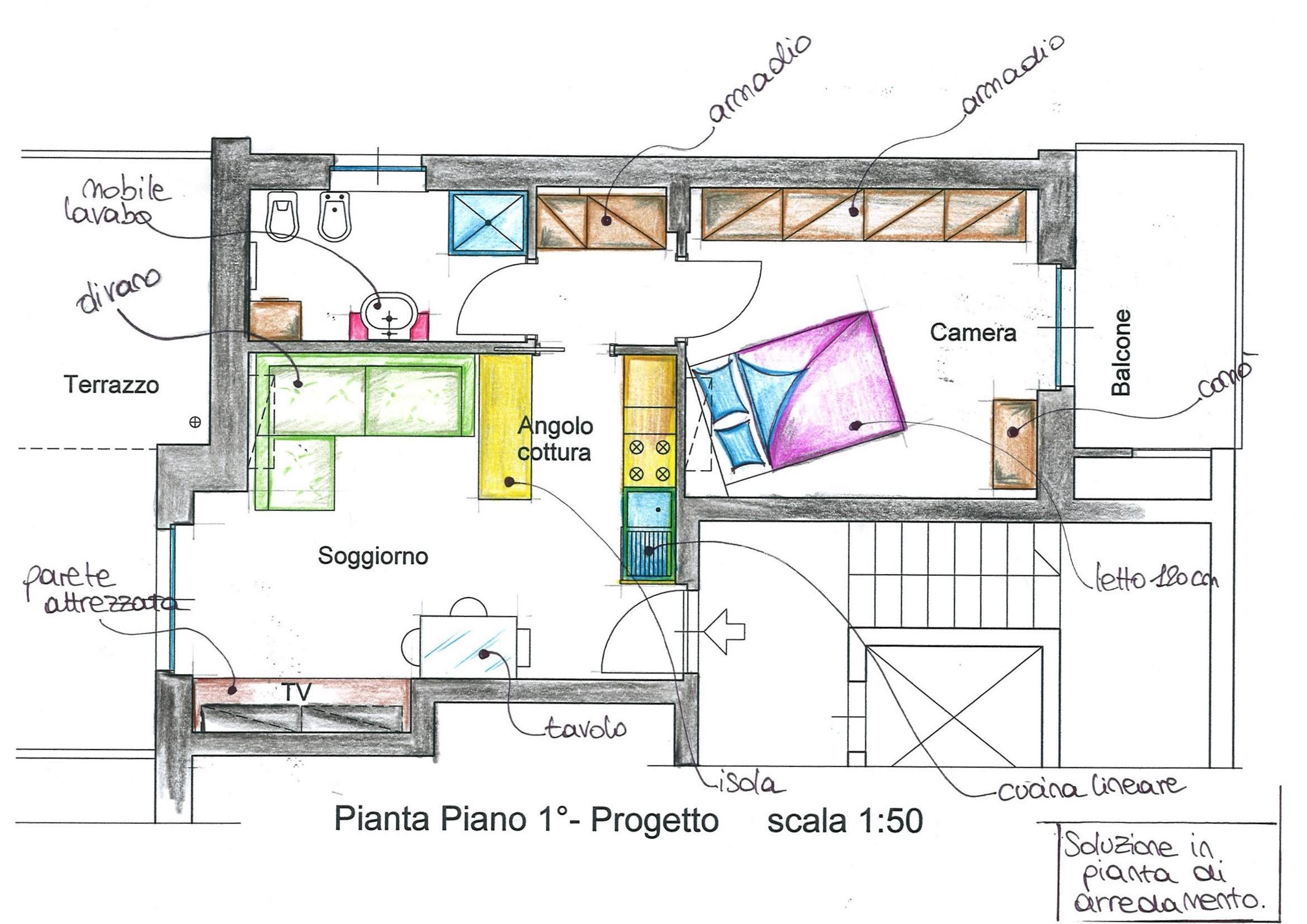 Arredare 45 mq casa piccola