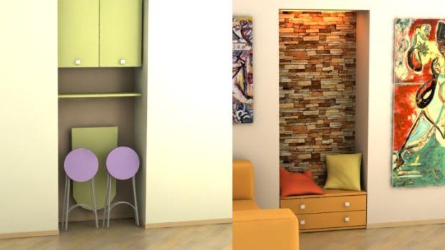 Zeta concept nicchie e pareti attrezzate 3 idee per for Nicchie nel muro idee