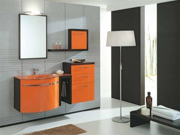 Zeta concept arredare con l arancione idee consigli - Bagno arancione ...
