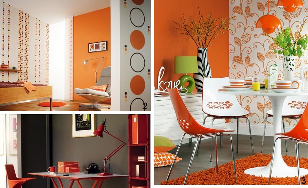 Pareti Gialle E Arancio : Zeta concept arredare con l arancione idee consigli
