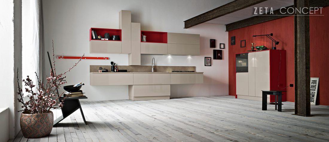Zeta concept flo cucina ar tre - Cucine in piccoli spazi ...